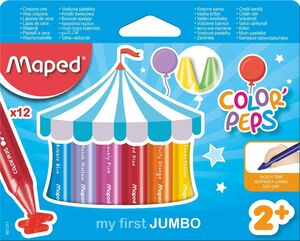CERAS MAPED COLORPEPS WAX JUMBO 12 COLORES