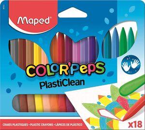 CERAS MAPED PLASTICLEAN COLOR PEPS ESTUCHE 18