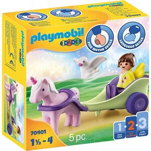 PLAYMOBIL 123 70401 CARRUAJE CON UNICORNIO