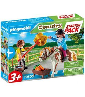 PLAYMOBIL STARTER PACK 70505 GRANJA DE CABALLO
