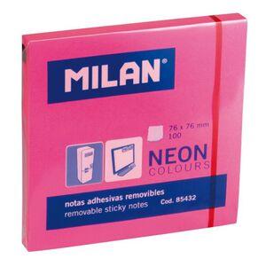 NOTAS ADHESIVAS MILAN 76X76 ROSA NEON