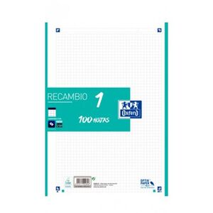 RECAMBIO OXFORD A4 100H 5MM 4T BANDA MENTA