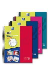 EUROPEANBOOK 4 WRITE&ERASE: CUADERNO MICROPERFORADO CON PIZARRA BLANCA EXTRAÍBLE Y 4 COLORES DE BANDA EN FORMATO A4+ PARA PODER CLASIFICAR LOS APUNTES POBLOC OXFORD WRITE&ERASE CLASSIC TE A4+ 120H 5X5