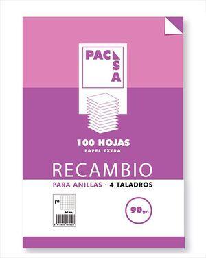 RECAMBIO A4 PACSA 90GR 100H LISO 4T