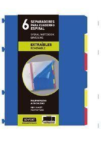 JUEGO 6 SEPARADORES EXTRAIBLES BLOC ESPIRAL SENFORT
