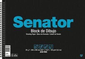 BLOCK DIBUJO ESPIRAL SENATOR A3 20H 150G LISO MICROPERFORAD