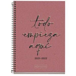 AGENDA ESCOLAR 21/22 MIQUELRIUS CARTON RECICLADO ECO WRITE ROSA 11,7X17,4CM DP ESP/ING