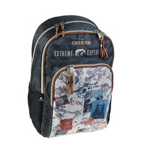 MOCHILA ESCOLAR DOBLE GREENLAND BY BUSQUETS