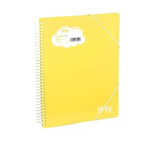 CARPETA CARCHIVO 30 FUNDAS ESPIRAL SOFT AMARILLO