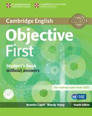 OBJECTIVE FIRST STUDENT'S BOOK WITHOUT ANSWERS WITH CD-ROM 4TH EDITION