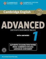 CAMBRIDGE ENGLISH ADVANCED 1 FOR REVISED EXAM FROM 2015 STUDENT'S BOOK PACK (STU
