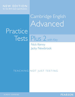 CAMBRIDGE ADVANCED VOLUME 2 PRACTICE TESTS PLUS NEW EDITION STUDENTS' BOOK WITH