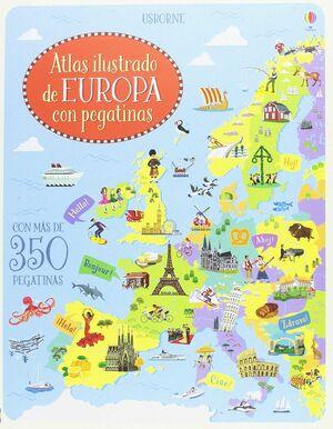 ATLAS DE EUROPA CON PEGATINAS