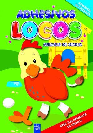 ADHESIVOS LOCOS. ANIMALES DE GRANJA