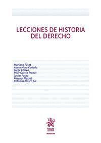 LECCIONES DE HISTORIA DEL DERECHO