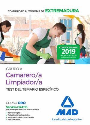CAMARERO/A-LIMPIADOR/A PERSONAL LABORAL (GRUPO V) DE LA ADMINISTRACION DE LA COM