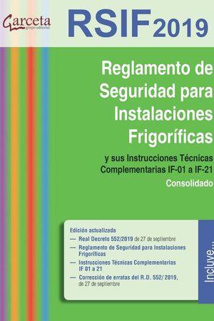 RSIF. REGLAMENTO DE SEGURIDAD EN INSTALACIONES FRIGORIFICAS