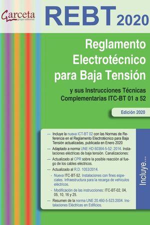 REBT 2020. REGLAMENTO ELECTROTECNICO PARA BAJA TENSION